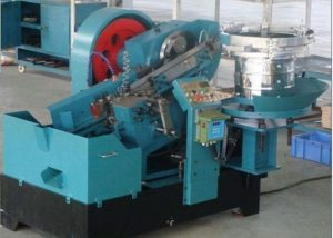Wedge anchor bolts thread rolling machine