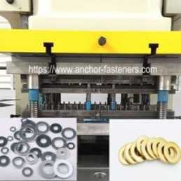 Steel and copper plain washer pressing and progressive tool