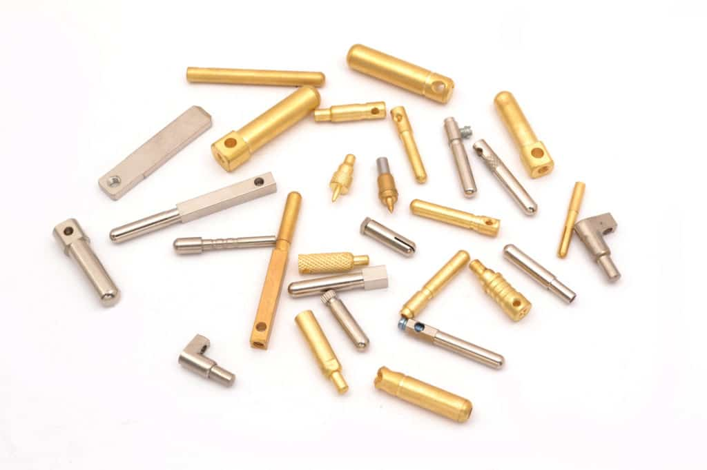 Brass Pins made by brass electrical plugin Connector plug pins forming machine