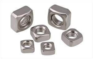 Finished stainless steel square nut
