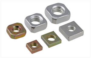 Finished zinc plated steel iron square nut