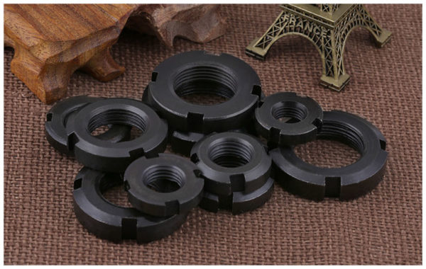 Slotted Round precision lock nut nuts