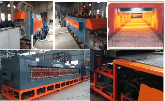 Electric Heating Continuous Controllable Atmosphere Mesh Belt Quenching and Tempering Heat Treatment Furnace2