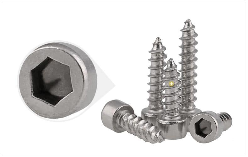 Finished SS Hex flange self tapping bolts screws