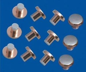 Rivet made by ABM-3 Bi metal silver copper electric contact rivet making machine