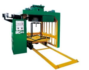 Inverted high speed vertical wire drawing machine