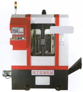 High efficiency single station deep hole drilling machine