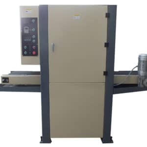 Flat surface deburring machine
